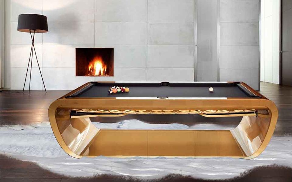 Billard luxe blacklight billard toulet 100 made ine - Table de billard moderne ...