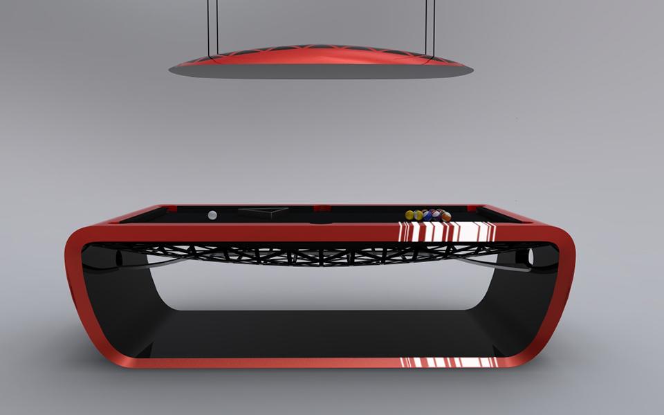 Billard luxe blacklight billard toulet 100 made ine france - Billard americain design ...