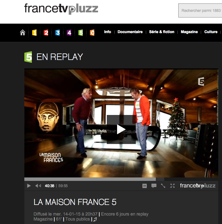 Billard Toulet Sur France 5