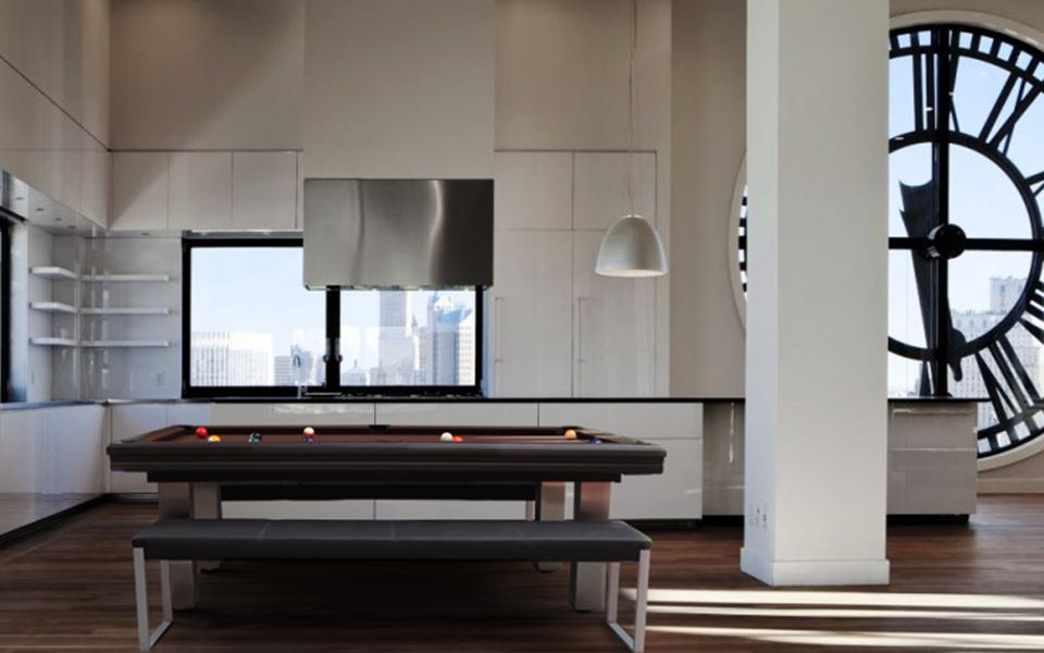 Billiard table loft billiards toulet - Billard moderne ...