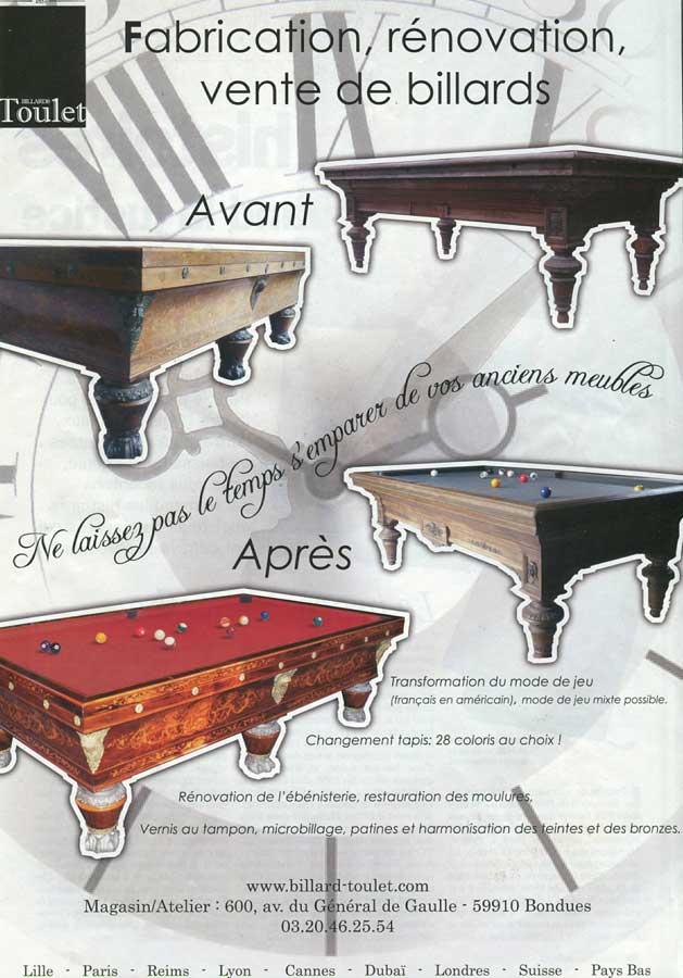 Billard Toulet-revues-artravel