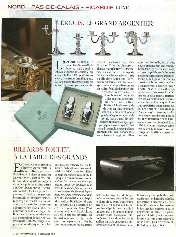 Billard Toulet-revues-le Figaro magazine