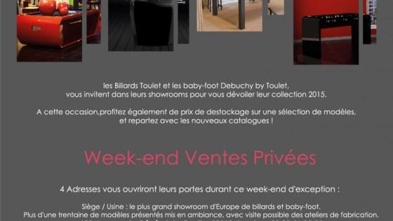 actualités- billards toulet - Week-end Ventes privées du 28 Novembre au 1er décembre 2014
