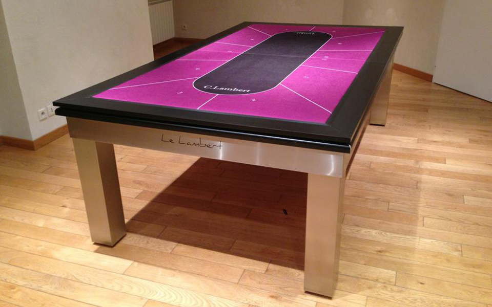 Billard table design lambert table billard toulet 100 for Table de salle a manger billard