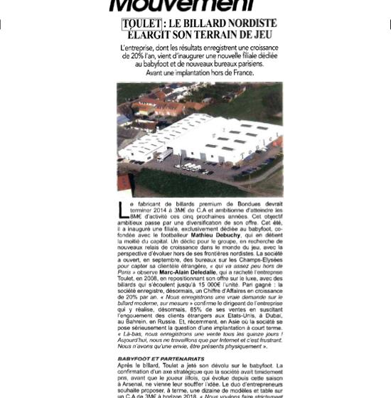 Article Autrement Dit – Novembre 2014- actualités- billards toulet