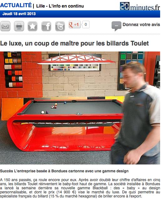 Article-presse-2àminutes-lille-Billard-toulet