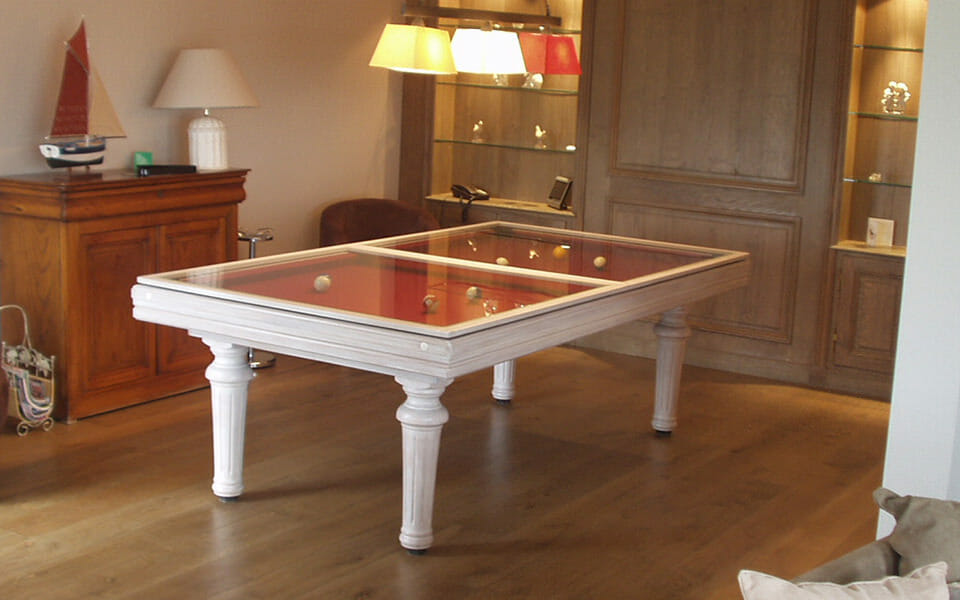 billard table en verre ou en bois pour billards toulet. Black Bedroom Furniture Sets. Home Design Ideas