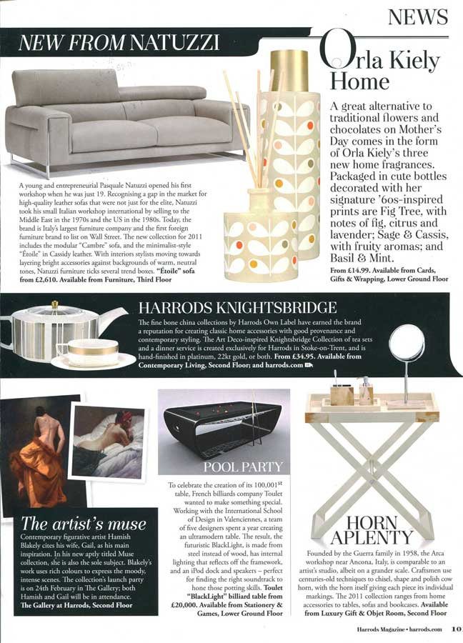 Billard Toulet-presse-Harrods magazine
