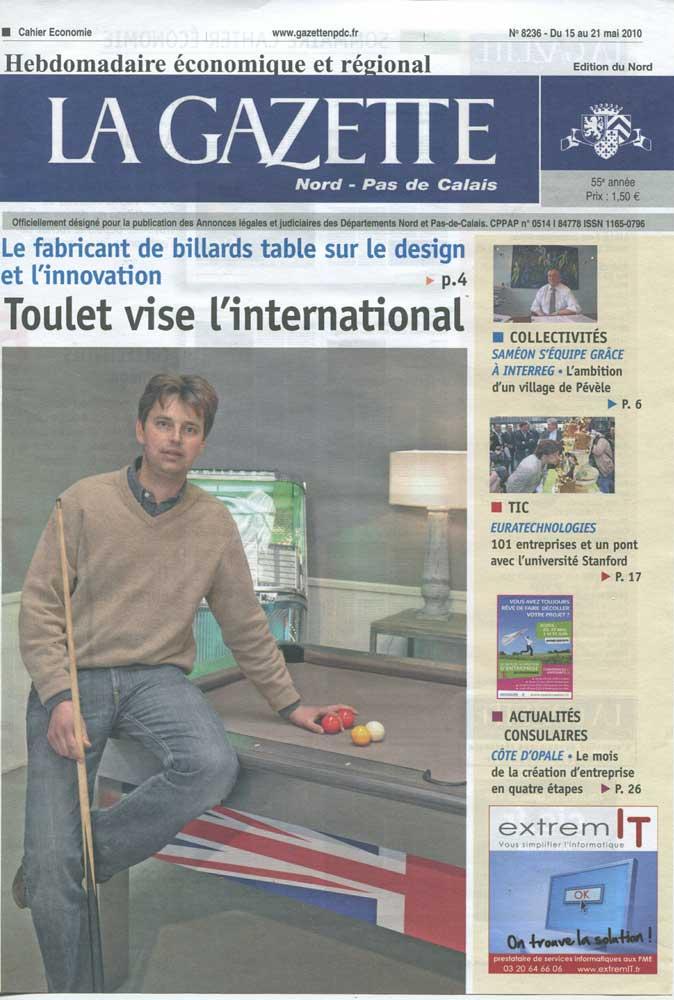 Billard Toulet-revues-La Gazette-couv