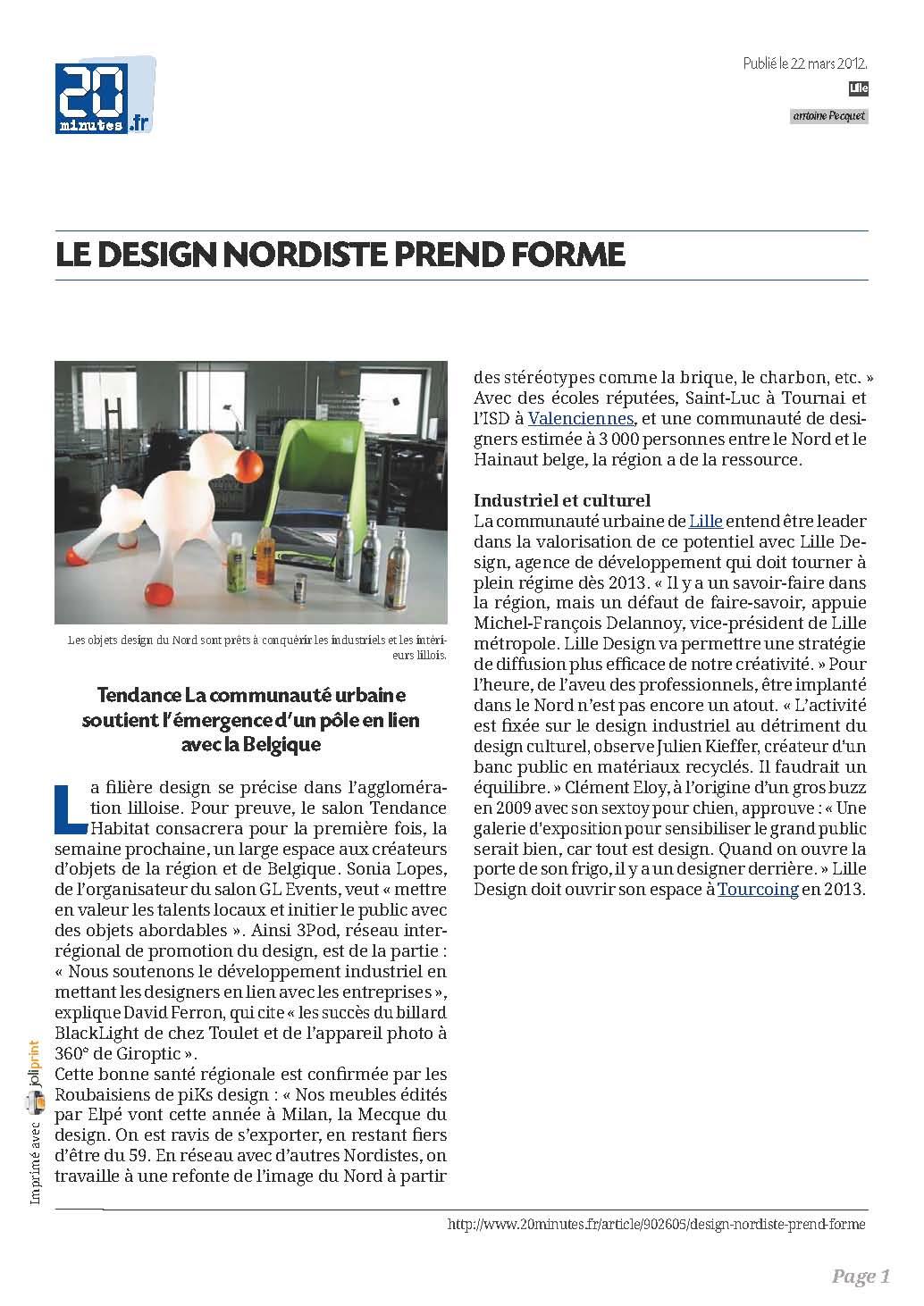 Presse- article- Billards toulet-20minutes.fr-le-design-nordiste-prend-forme