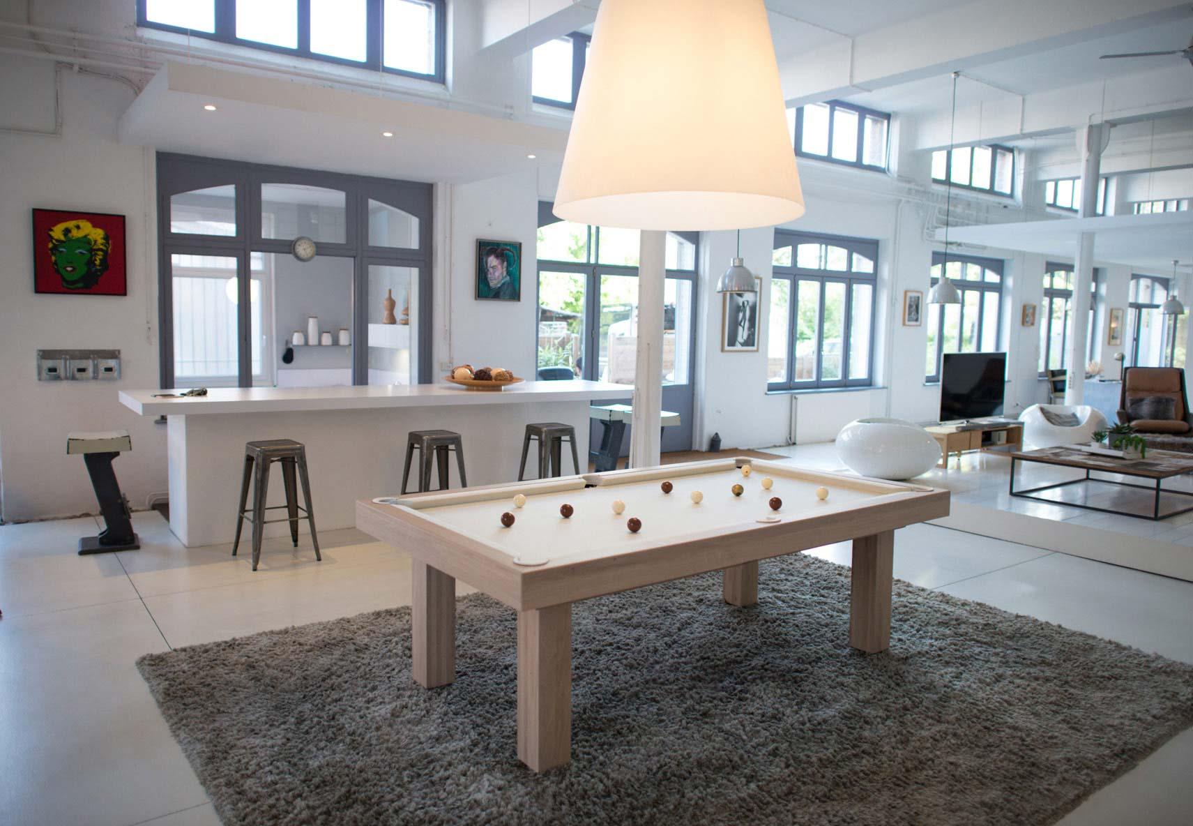 billard table contemporain purity - billard toulet - 100% made in france