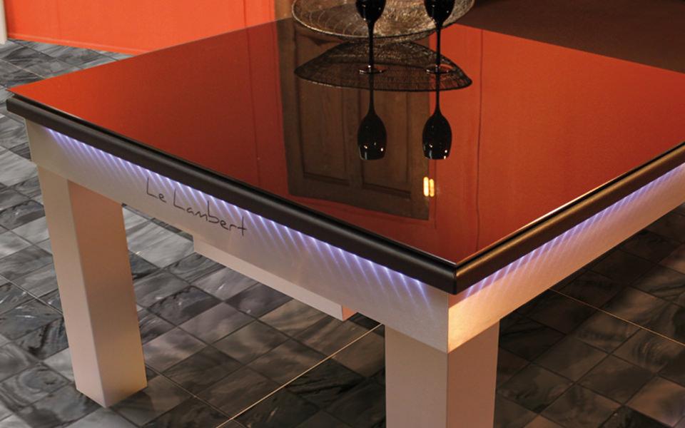 Billard table en verre ou en bois pour billards toulet for Plateau en verre pour table