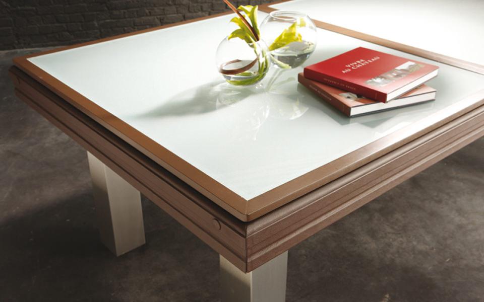 billard table-plateau-verre-opaque